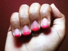 Cute for short #nails -- #Neon #Tips