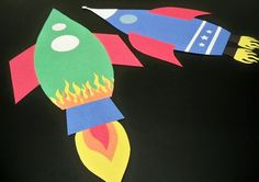 Rocket Building Kit - fun activity for a rocket or outer space party. Just print, cut and glue. A fun craft for kids of all ages!