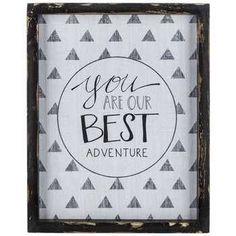 81f638fdc824 Our Best Adventure Tribal Wood Sign Adventure Nursery