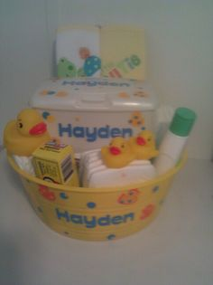 Another pinner posted baby shower gift made using Cricut.