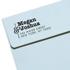 "CUSTOM ADDRESS STAMP - Eco Friendly & self inking, gifts for wedding, housewarming, etsy labels, return address stamp ""Name26"". $23.95, via Etsy."