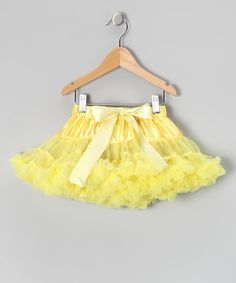 My faves of all faves since I am OBSESSED with yellow!  Take a look at this Pastel Yellow Spring Luxe Buttercream Pettiskirt - Girls by American Tutu on #zulily today!