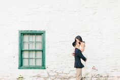 Engagement Session: Winnie and Darren: These Maryland natives brought their adorable dog along for a shoot celebrating Washington in the spr...