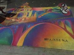 City Of Pasadena, chalk mural, Jen Swain Chalk Drawings, City, Painting, Painting Art, Cities, Paintings, Painted Canvas, Chalk Painting, Drawings