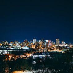 The beautiful city lights of Edmonton! ExploreEdmonton hellip