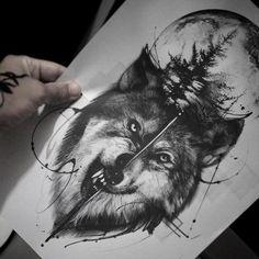 эскиз тату волка Wing Tattoo Men, Wolf Tattoo Sleeve, Tattoo Sleeve Designs, Tattoo Designs Men, Sleeve Tattoos, Wolf Tattoos Men, Leg Tattoos, Body Art Tattoos, Tattoos For Guys