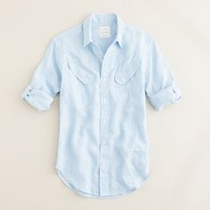 $118 Billy Reid at J.Crew Beaudreaux sport shirt in light blue