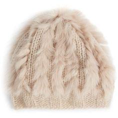 Annabelle New York Bobbo Fur-Trimmed Knit Beret