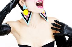 FRIDA LAS VEGAS Pop Art Perspex Jewellery Memphis 80s Style