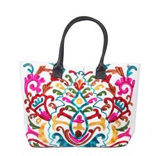 6f4aca0fa6 Suzani Printed Embroidery Work Traditional Indian 100 Pure Cotton Bag  Vintage