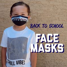 Face Masks are the new school uniform so why not make them fun?! Our unique kids' mask designs are full of style. Cross this one off of your back-to-school list, because Hang Accessories has got you covered. Forearm Tattoo Design, Small Faces, Diy Face Mask, Face Masks, Fashion Face Mask, Summer Body, Mario, Mask Design, Fun Prints