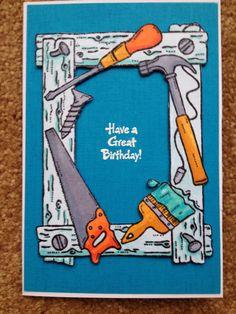 DIY Birthday Card - male card.