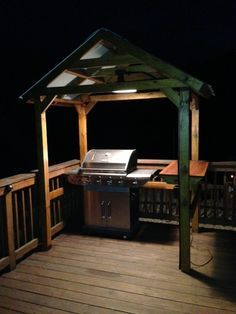 Follow the construction on this home built Grill Gazebo in pictures!