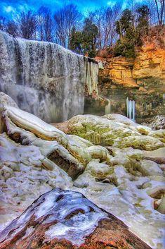 Bruce Trail - Webster's Falls - Spencer Gorge - Winter Scene