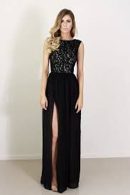 maid of honor dress long black - Google Search