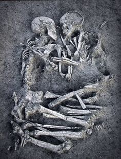 The 'Lovers of Valdaro.    Valentine's Day over 5,000 years ago - The Lovers of Valdaro    Archaeologists unearthed in 2007 two skeletons from the Neolithic period locked in an embrace. Their loving embrace has lasted an eternity.