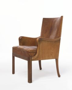 Frits Henningsen; #2665 Mahogany and Leather Armchair, c1930.