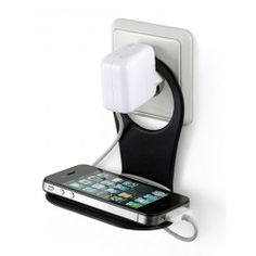 Holds your phone neatly while it's charging. Slightly larger version for smartphones, and I like the folding hinge so it can be packed away more easily