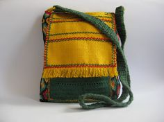 Bag of cotton embroidery on Panama in by ColouredAccessories