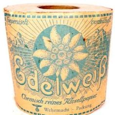 Image copyright                  Whyte's Auction House Image caption                                      The toilet roll is described as being in 'remarkable unused condition'                                Toilet paper issued to Hitler's army, the Wehrmacht, during World War Two is up for sale at an auction in Dublin. The unopened roll of Edelweiss brand Klosettpapier (toilet paper) has been valued at between 80 euros (�