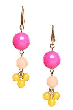 Kalliope Multicolor Beaded Drop Earrings