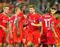 Relief for Liverpool in their first Champions League game against Ludogorets at Anfield. #LFC