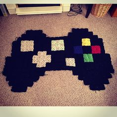 Crochet Xbox Controller : ... about rugs on Pinterest Xbox games, Pixel crochet and Pom pom rug