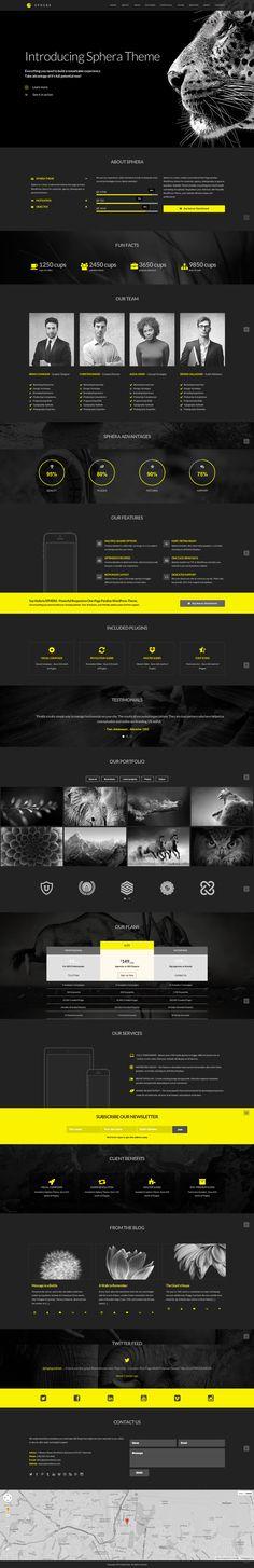 Sphera – One Page Parallax WordPress Theme