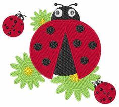 "Windmill designs ""Ladybugs"" embroidery design"