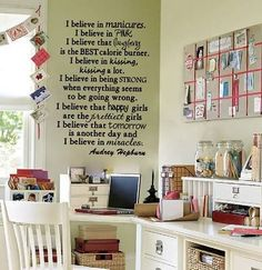 I like this saying.  What a cute idea for either a scrapbook room or a teen/college girls room.