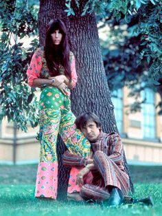 Sonny & Cher - Loved those dreamy paisleys and the colors!