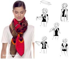 How To Wear Pashminas Scarf Knots 45 Ideas Ways To Tie Scarves, Ways To Wear A Scarf, How To Wear Scarves, Pashmina Scarf, Plaid Scarf, Scarf Knots, Cooler Look, Neck Scarves, Scarf Styles