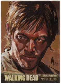 CRYPTOZOIC THE WALKING DEAD SEASON 3 SKETCH CARD DARYL DIXON AP LEE LIGHTFOOT