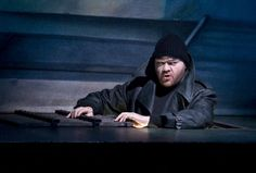 "Bjarni Thor Kristinsson as Sparafucile in ""Rigoletto"" by Giuseppe Verdi, Oper am Dom, Cologne, Germany, 2012"