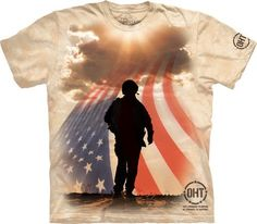 This Graphic Tee Is One Of Many Featured From The Operation Hat Trick Collection By The Mountain Art Wear Company. This Graphic T-Shirt Is A Symbol Of Support For Our Veterans And Troops. Check Out So