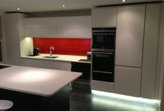 Contemporary Kitchen From Anthony Mullan Furniture. Matt 10% White Furniture  And Anthracite Black Island