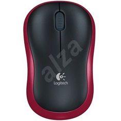 Myš Logitech Wireless Mouse M185 červená