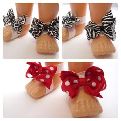 Cute Little Bows Baby Barefoot Sandals by girlfrosting on Etsy