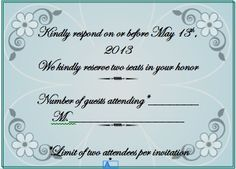 RSVP wording for guests who tend to bring along uninvited guests ...