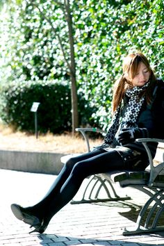 School Girl Japan, Japan Girl, Cute Asian Girls, Cute Girls, Stockings Legs, Girls Uniforms, Black Tights, Hosiery, Korean Fashion