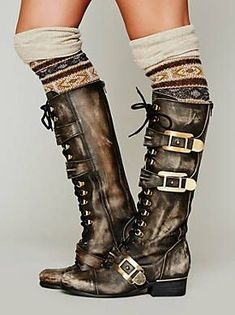 Free People Kantell Lace Up Boot, $368.00 -- I wish these were faux and much cheaper. Love the style. Look for similar vegan boot. #steampunkfashion,