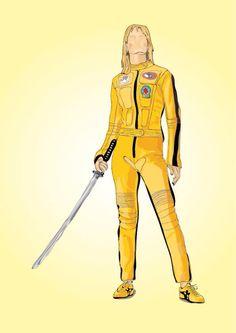 Uma Thurman in Kill Bill - Digital illustration