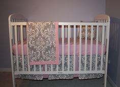 pink and grey baby nursery crib bedding on pinterest skirts and aqua