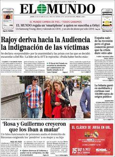 Los Titulares y Portadas de Noticias Destacadas Españolas del 24 de Octubre de 2013 del Diario El Mundo ¿Que le pareció esta Portada de este Diario Español?