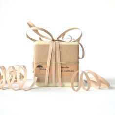 Gift Set of 3 Oatmeal Soaps  Lavender Oatmeal  by prunellasoap