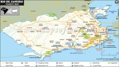 Map of Rio de Janeiro Shopping Centers, Shopping Malls in Rio Copacabana Beach, Christ The Redeemer, Shopping Malls, Tourist Places, Location Map, Shopping Center, Beautiful Beaches, Cool Places To Visit, Brazil