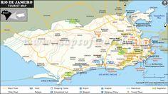 Map of Rio de Janeiro Tourist Attractions