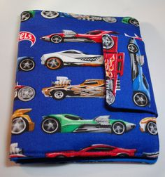 Crayon Wallet made from Hot Wheels Fabric by BusyBirdee on Etsy
