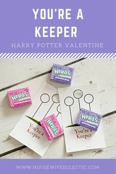 Housewife Eclectic: You're A Keeper Harry Potter Valentine