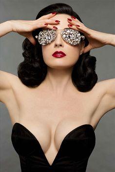 Retro Beauty gafas para fotos